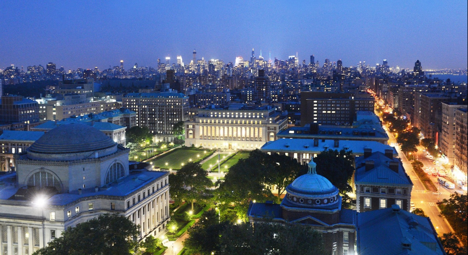 Aerial View of Columbia University's Morningside Campus