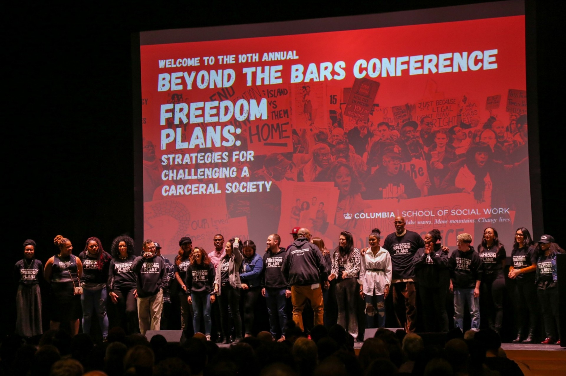 Beyond the Bars fellows on stage at the 2020 Beyond the Bars Conference