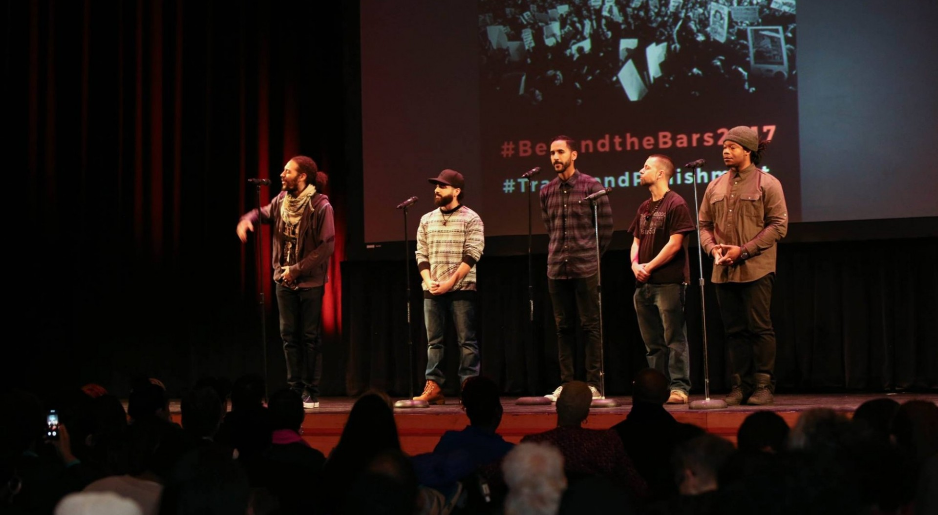 Justice Poets performing at Beyond the Bars Conference